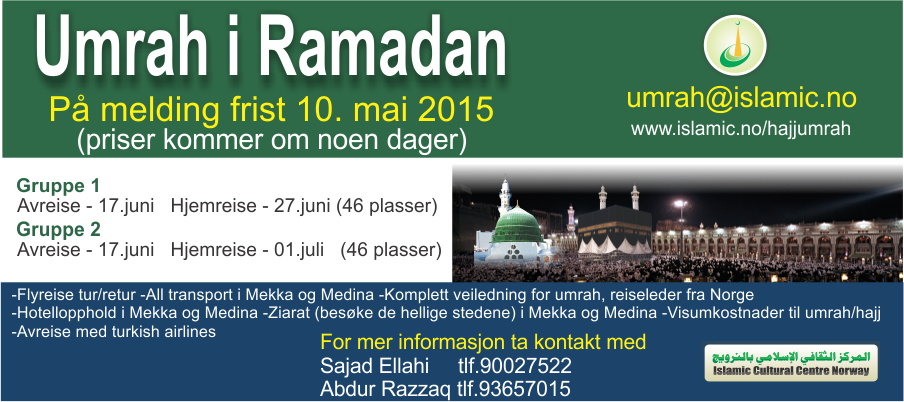 umrah, hajj, icc, islamic cultural centre norway